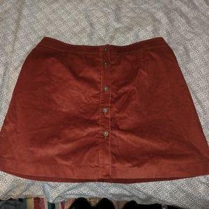🍁Simply be orange corduroy skirt 🍁